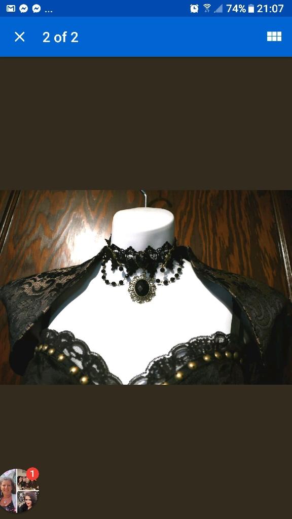 goth lace chocker