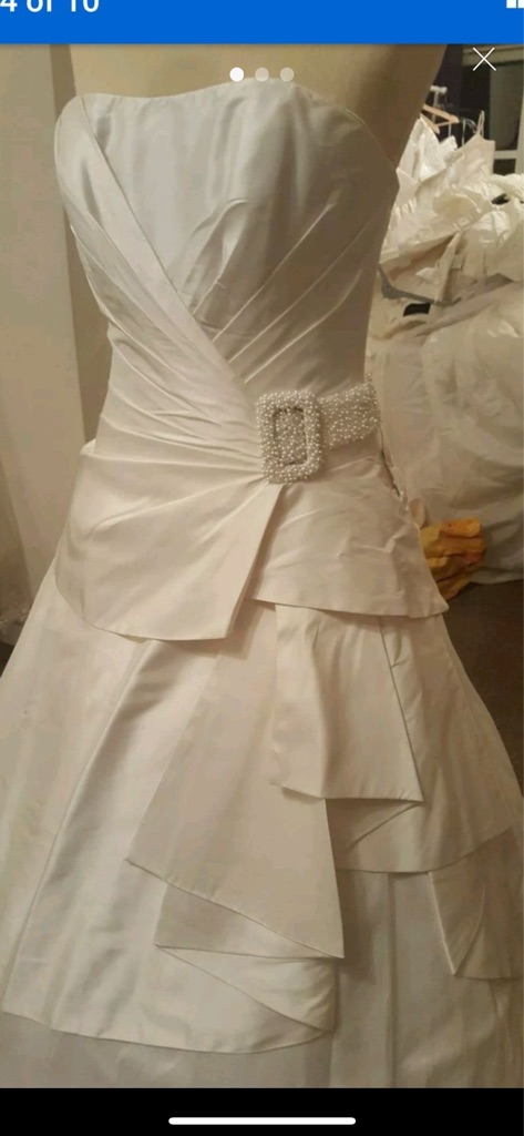 Size 12 silk taffeta wedding dress