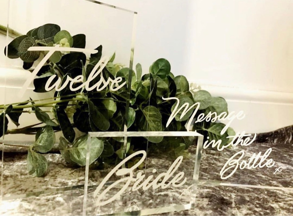 Acrylic Table Numbers for rebt