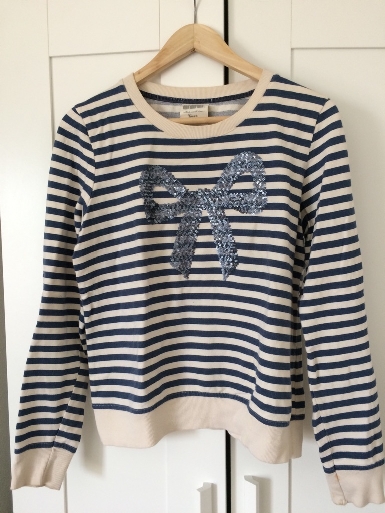 NEXT navy striped jumper