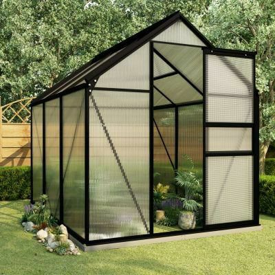 Inspirational Homeware Furniture & Gifts GREENHOUSE WITH BASE FRAME ALUMINIUM 3.61M²  £409.00