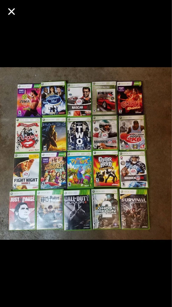 Xbox 360 Kinect and 54 games