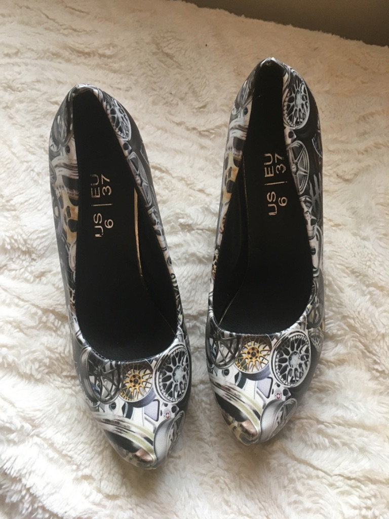 Great shoes for girls who love cars .. a must have for that party