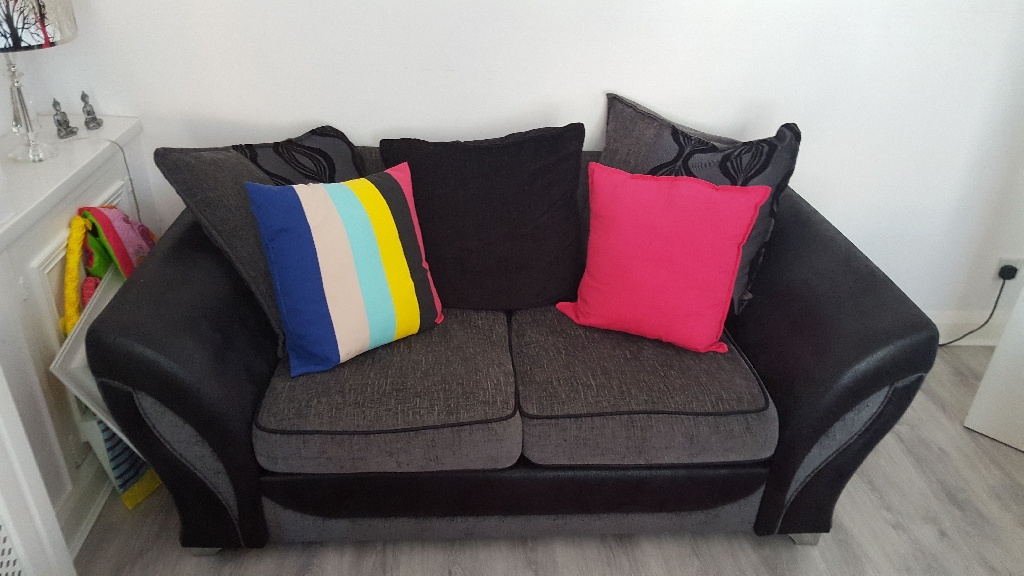 Black and grey Sofa from DFS