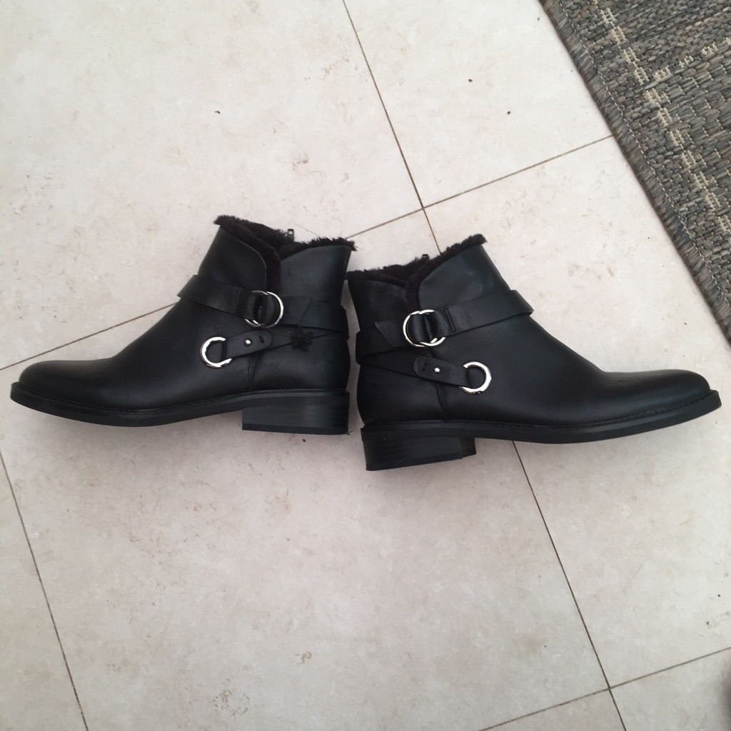 M and S Black Fur lined  Boots