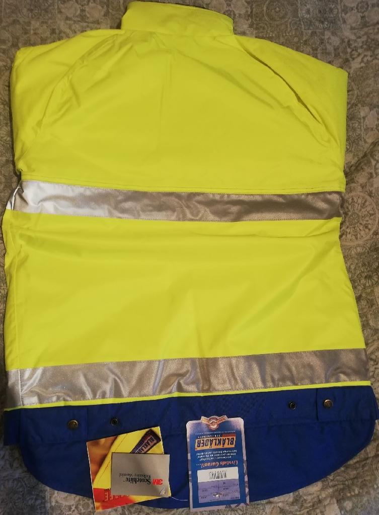 BLAKLADER Hi Viz Vis Waterproof Storm Padded winter jacet, FREE UK DELIVER