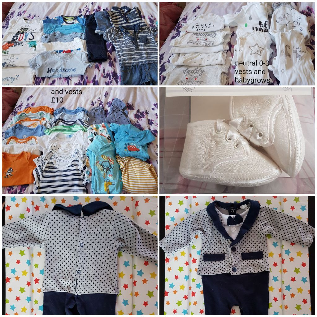 0-3 months unisex and boys