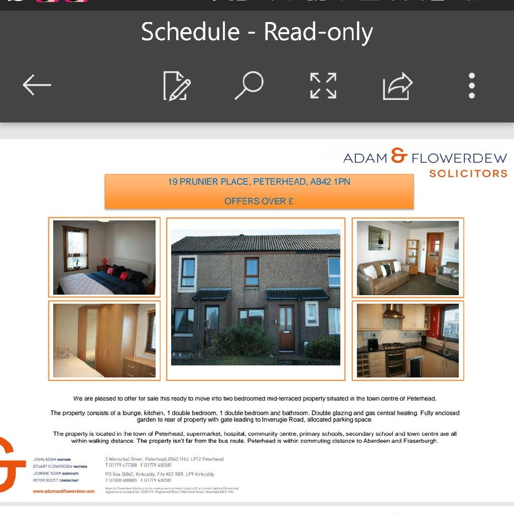 2 Bed for Sale Peterhead