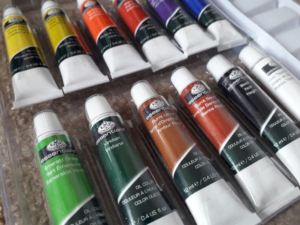Oil Paints and Pad
