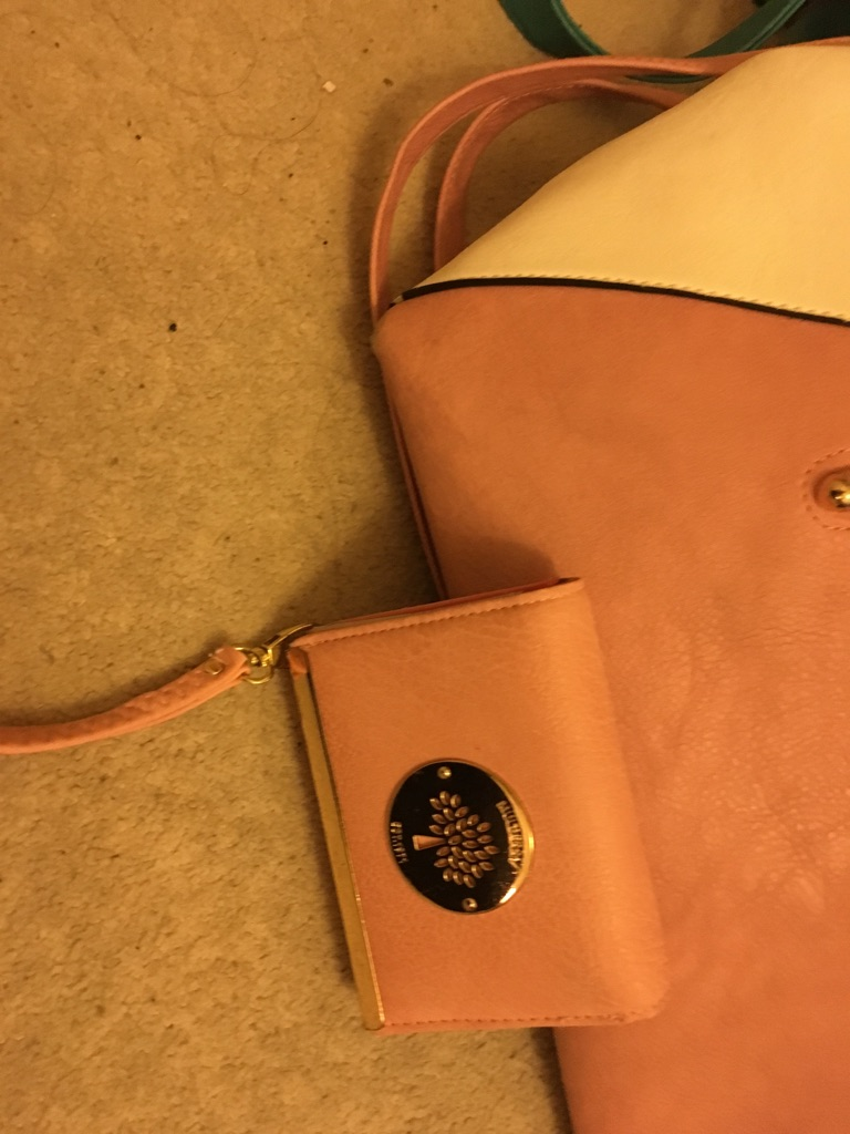 Faux Mulberry with matching purse