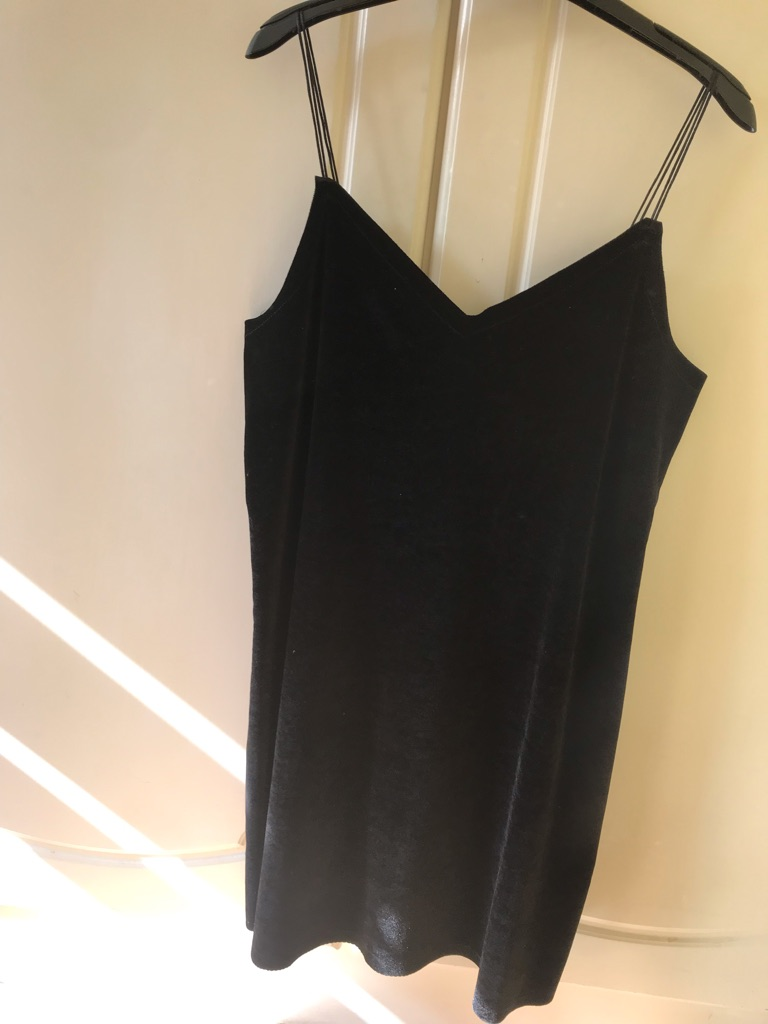Pull&Bear black suede mini dress