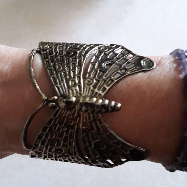 Stylish Metal Butterfly Wristlet