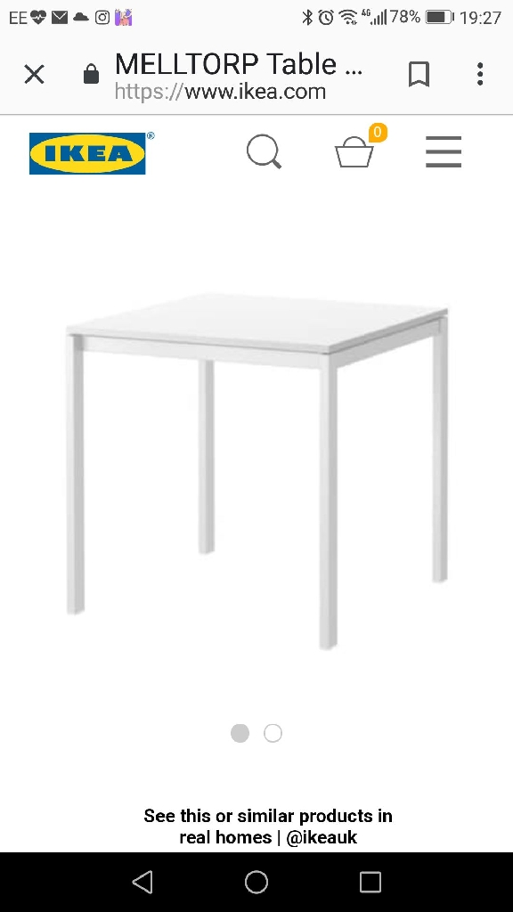 Ikea white dinning table