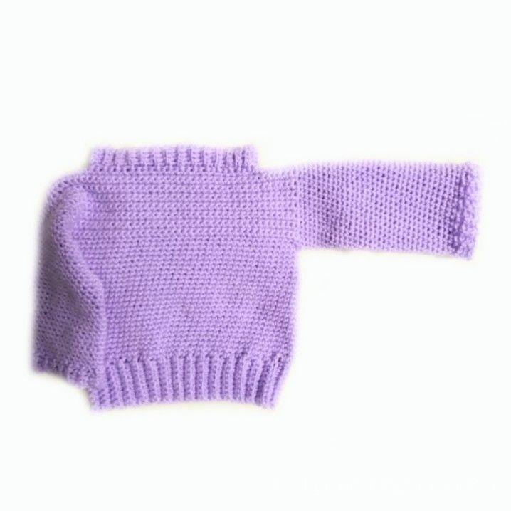 Handknitted baby boy sweater 0-3 months