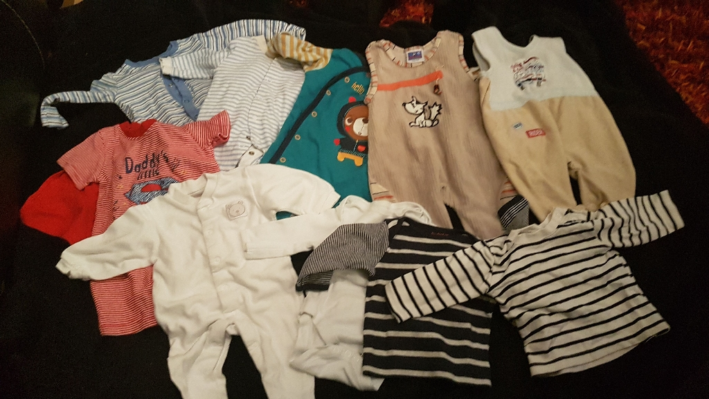 Baby boy 0-3 months clothes bundle