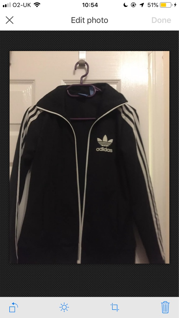 Ladies black Adidas bomber jacket coat size 6 xs