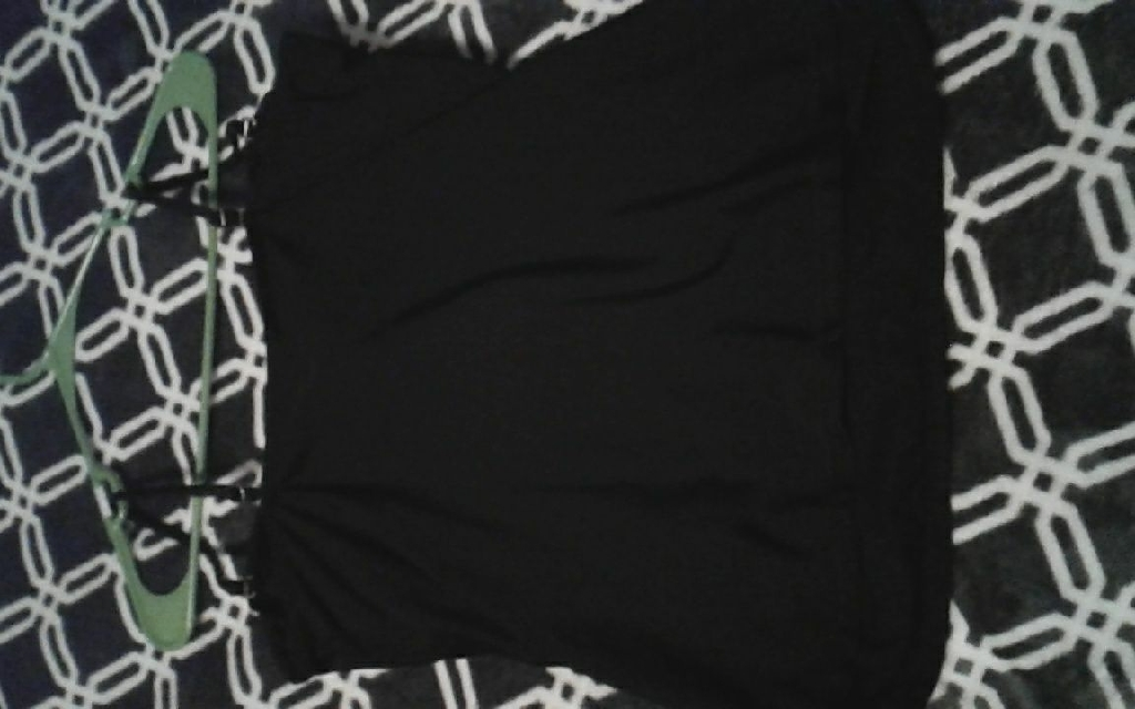 Black swim top
