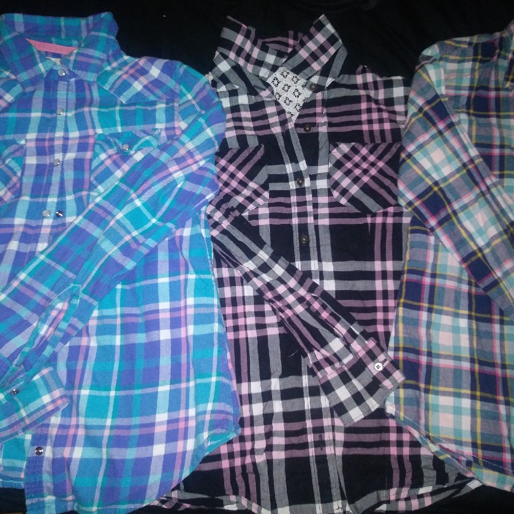 Flannel shirts for children.