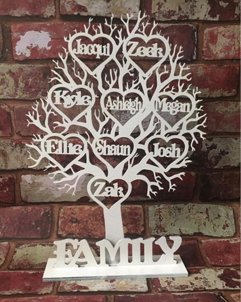 Free stand wooden family tree