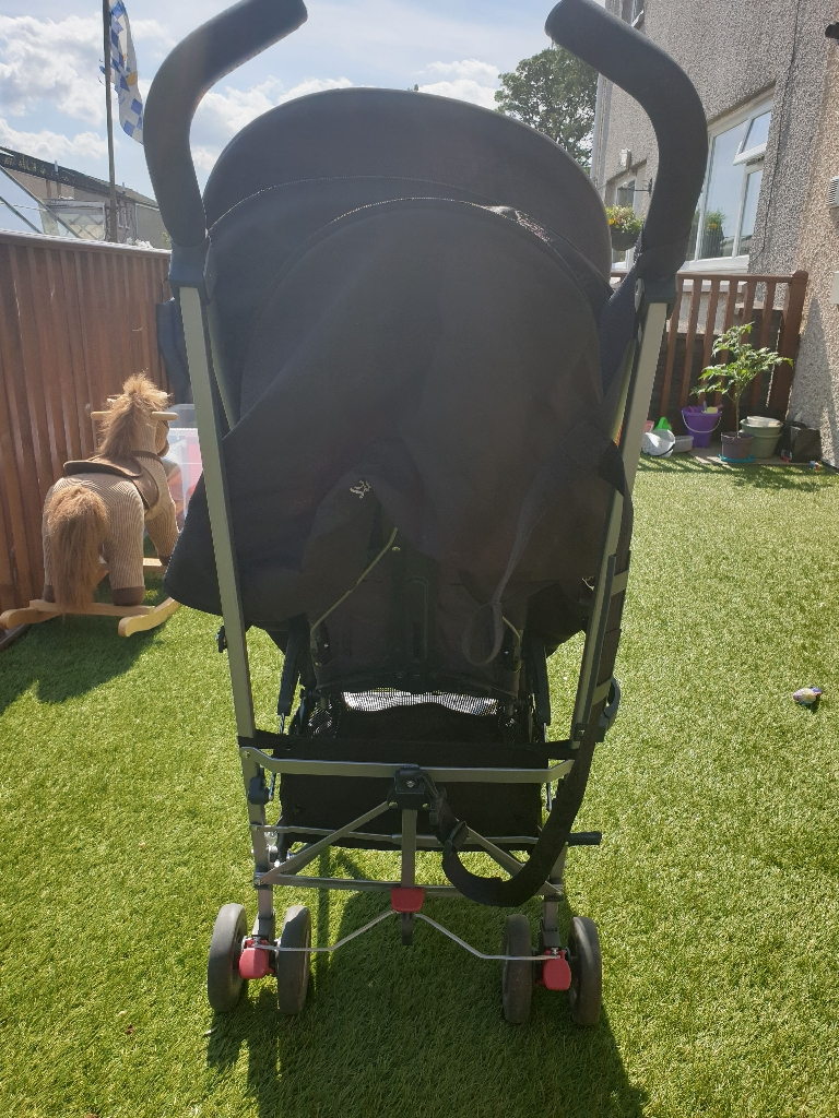 Silver Cross zest stroller - black with rain cover