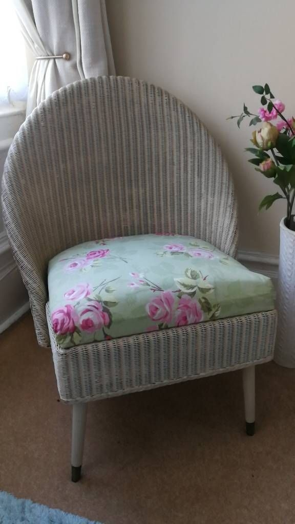 Shabby Chic Small Rattan Chair
