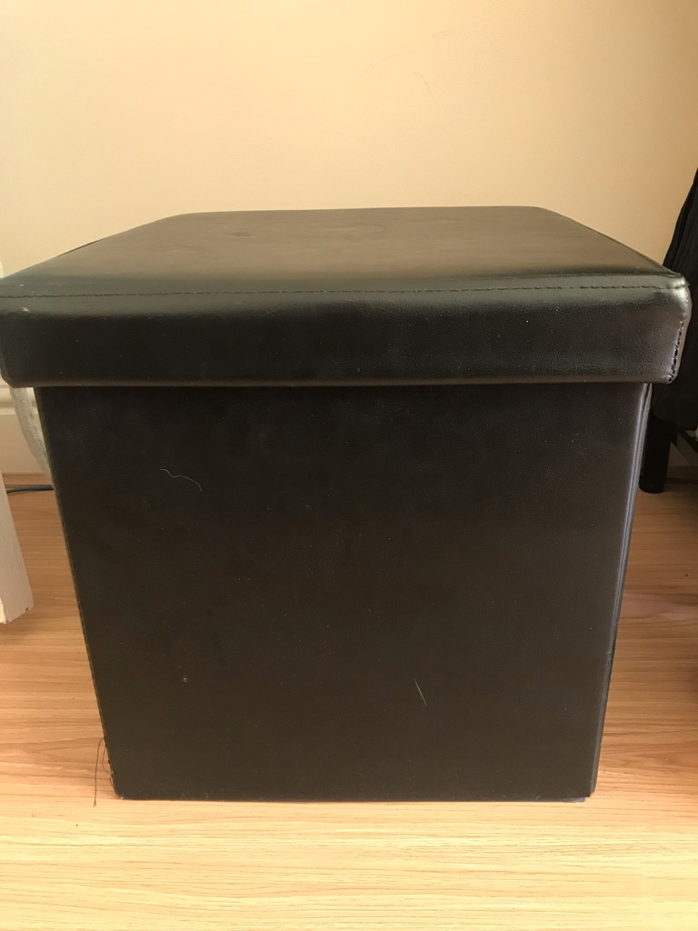 FREE BLACK OTTOMAN WITH STORAGE