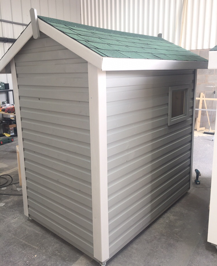 Grey Wooden Shed