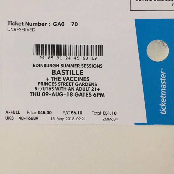 Bastille & The Vaccines Summer Sessions (2 tickets)