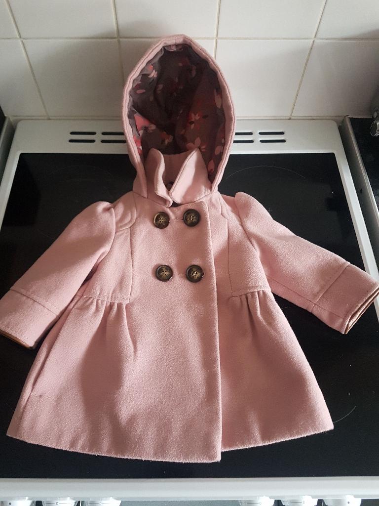 Baby Girl Next pink coat 6-9m