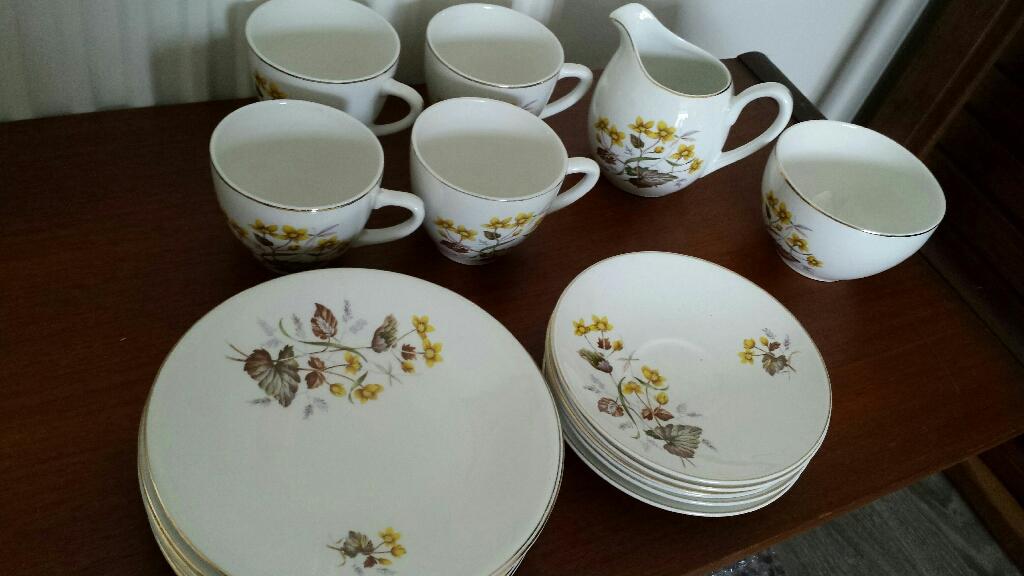 Designer vintage fine bone china tea set