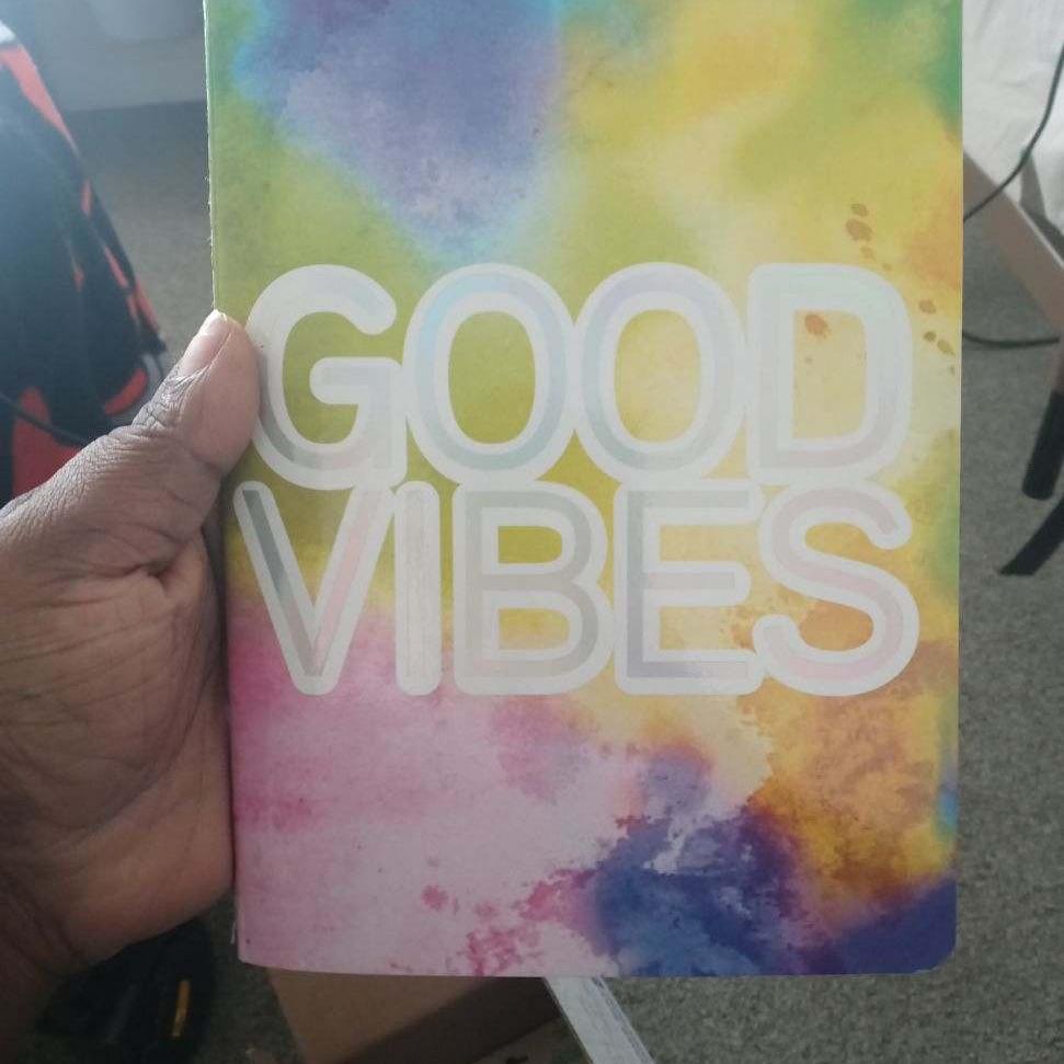 Brand new good vibes notbook