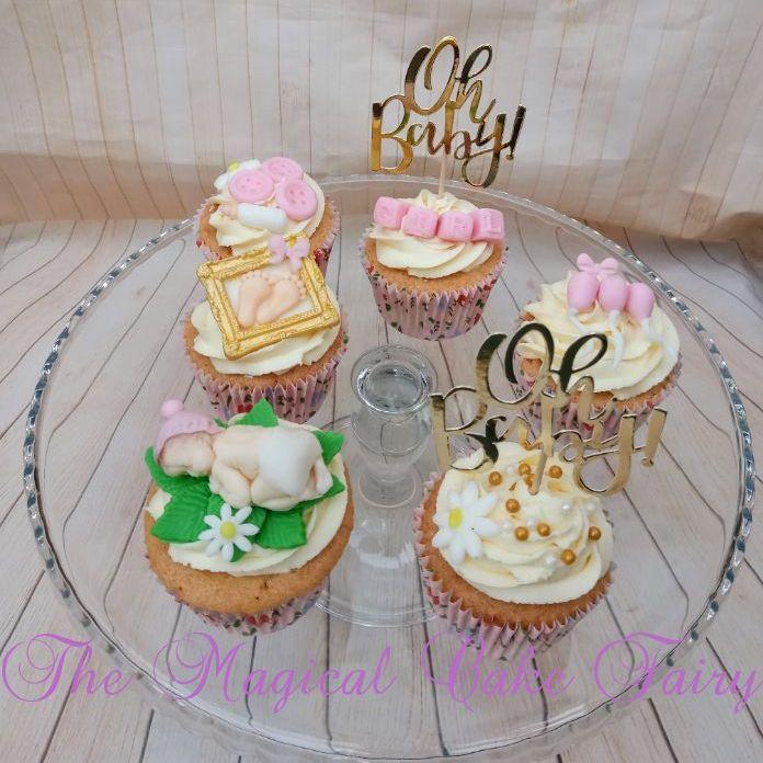 Babyshower cupcakes