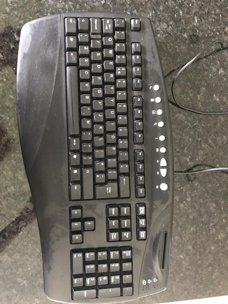 Ergonomic full size black keyboard
