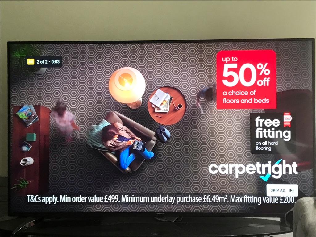 65 inch hitachi smart 4K tv