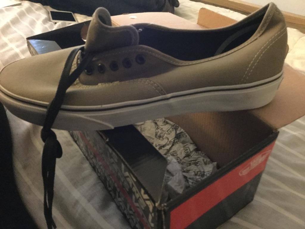 Size 10 Seneca Rock/Black Olive Vans NEVER WORN