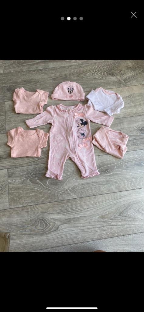 Newborn baby girl set