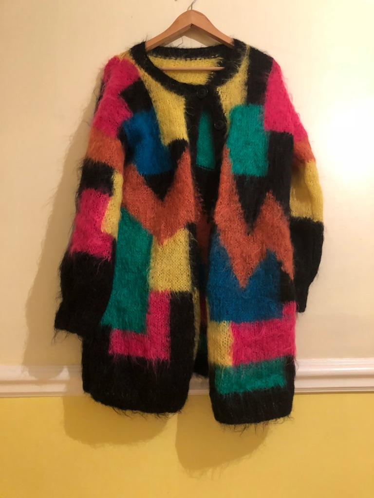 Multicoloured Mohawk cardigan