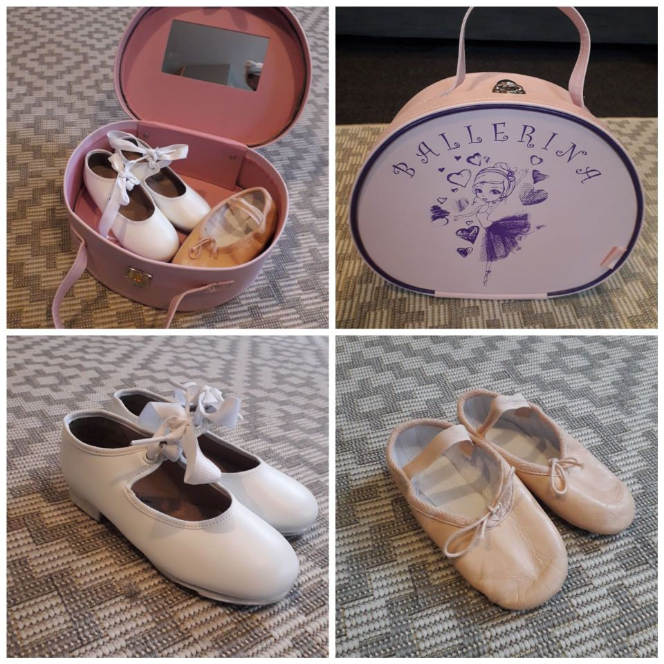 Ballet shoes and tap shoes size 10