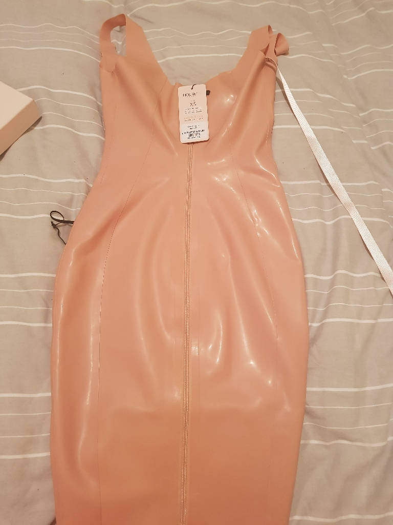BRAND NEW HOUSE OF CB PINK LATEX DRESS