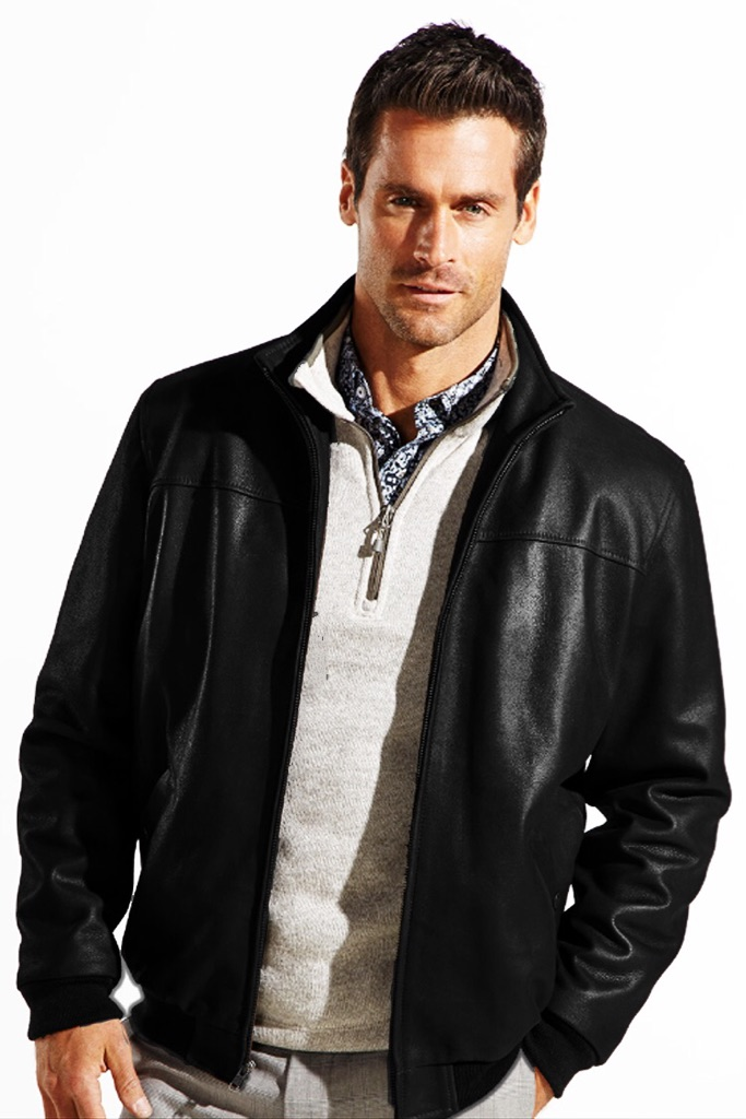 Rino & Pelle Leather Varsity Racer Jacket