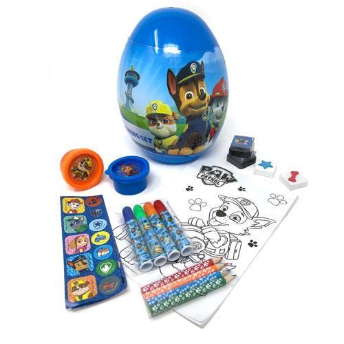Paw patrol stationary set inside egg