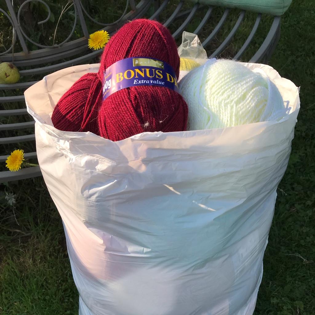 Assorted acrylic yarn