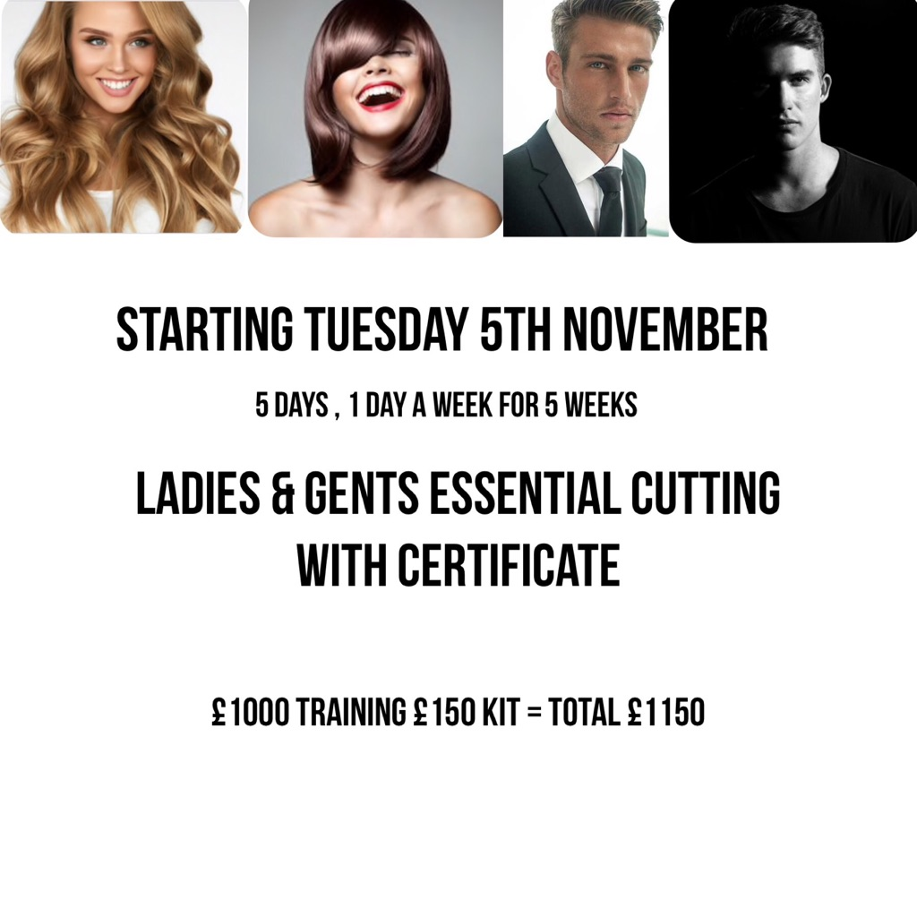 Hair Up or Essential Cutting starting Very soon