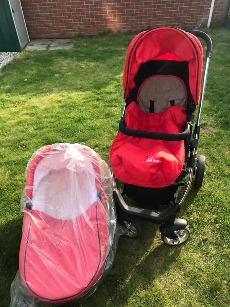 Red Baby Elegance islide Pram System