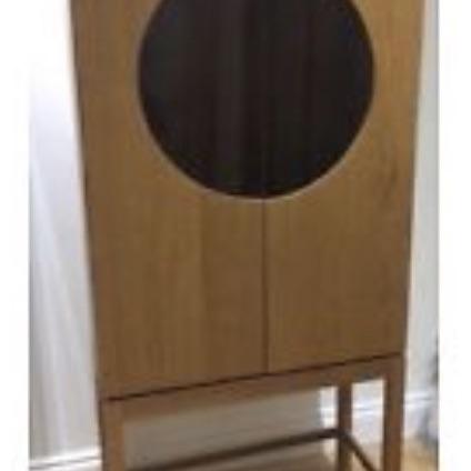 Ikea wood/glass cabinet