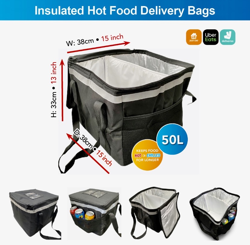 Uber Eats delivery bag fully insulated 50L