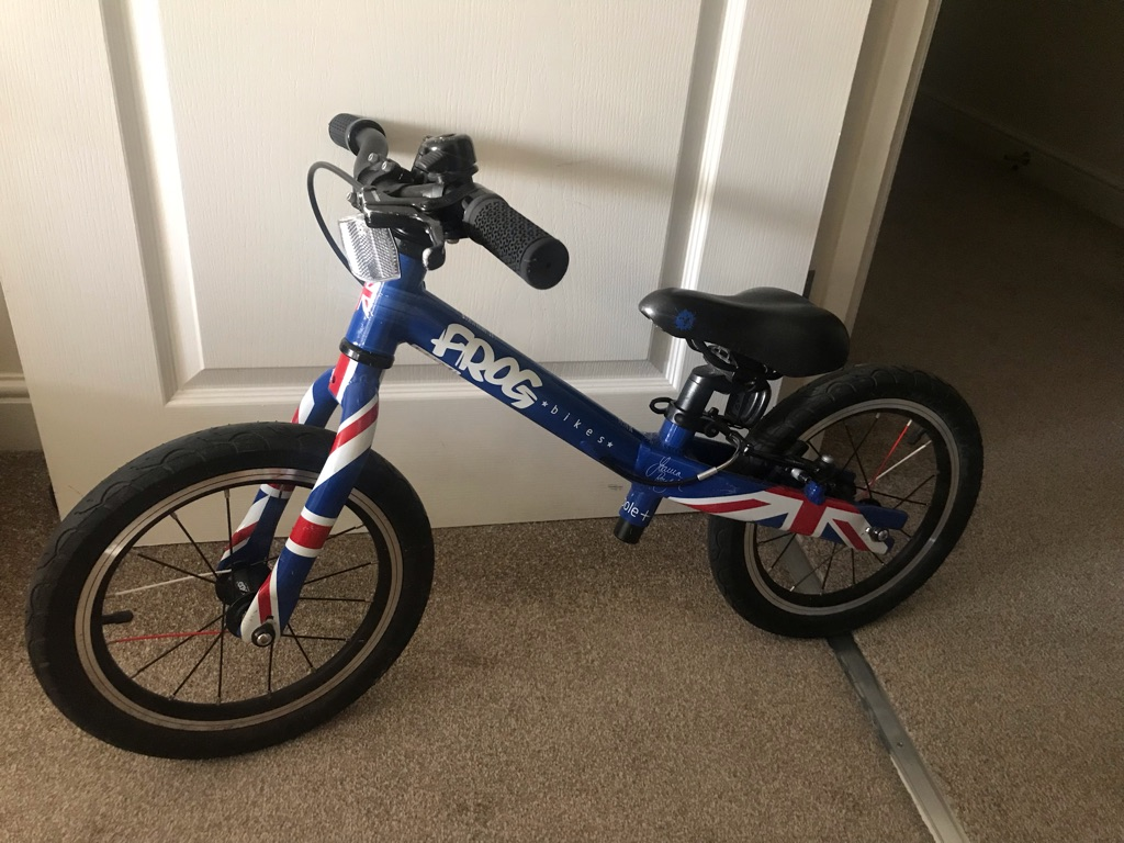 Frog Tadpole + Plus balance bike Union Jack - blue