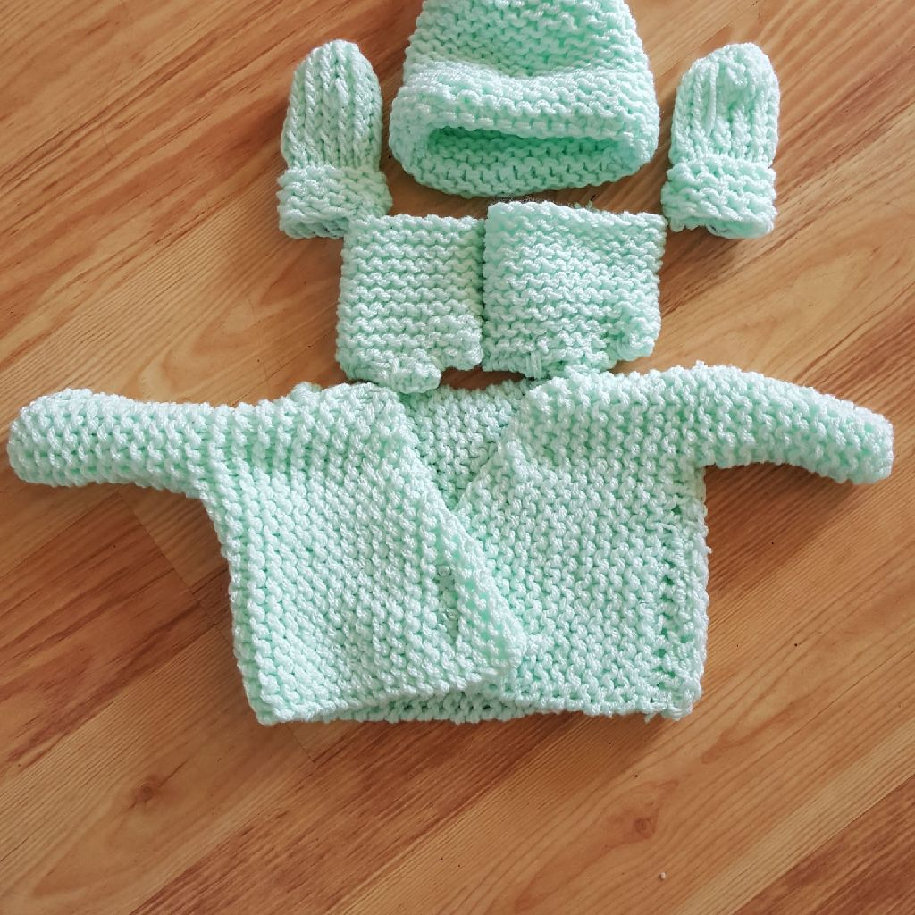 Handmade loom knitted sets for Silcone babies, dolls and Newborn babies