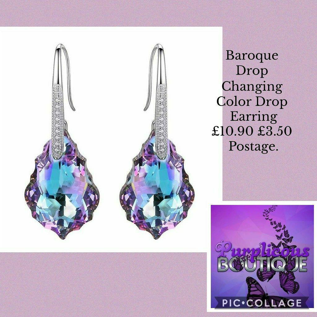 Baroque Drop Changing Color Drop Earring