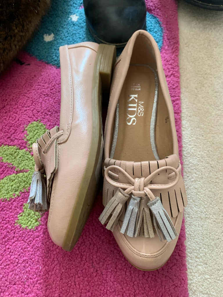 M&S girls loafers SIZE 1